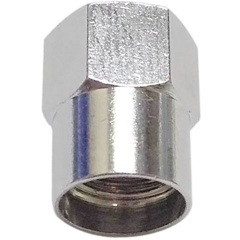 Tire Valves - Milton High Performance Hex Head Chrome Plated Valve Cap - Box Of 50