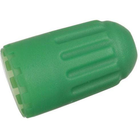 Tire Valves - Schrader Long Green (Nitrogen) Sealing Valve Caps For Snap-in Sensors 100/box