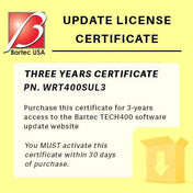 TPMS Service - Bartec Tech400SD 3 Year Software Update License Certificate