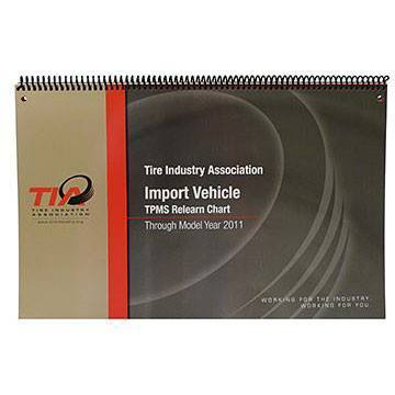 TPMS Service - Schrader TIA TPMS Relearn Chart