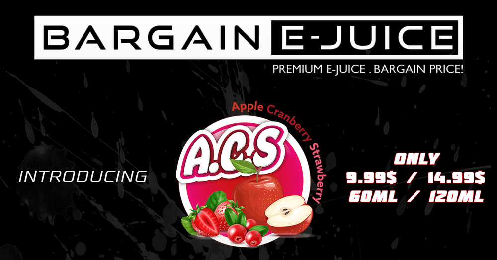 New Signature Flavour: A.C.S (Apple Cranberry Strawberry)