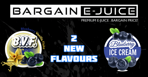 2 New Custom Flavours: B.V.F. (Blueberry Vanilla Flake) & B.I.C (Blueberry Ice Cream)