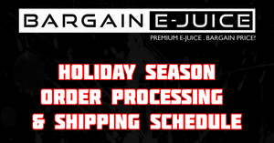 2020 Holiday Season Order Processing/Shipping Schedule