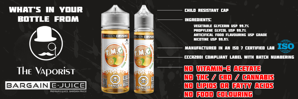 What's in The Vaporist & Bargain E-Juice E-liquids