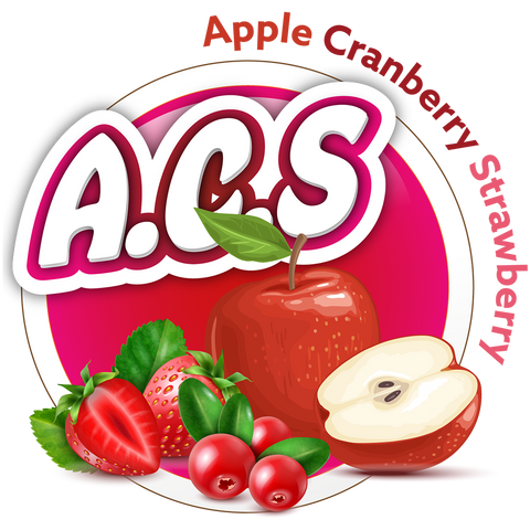 A.C.S (Apple Cranberry Strawberry) 60/120ml (Custom Ratio/Shot/Salt Nic)