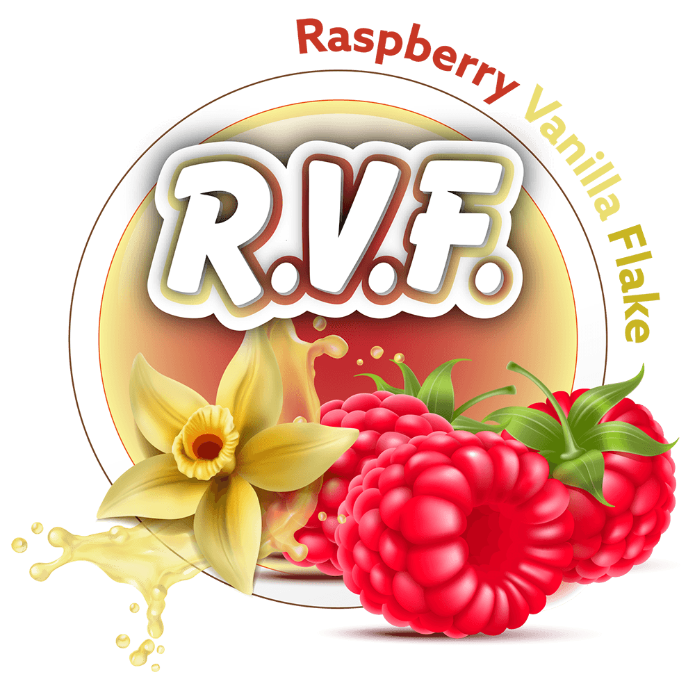 R.V.F. (Raspberry Vanilla Flake) 60/120ml (Custom Ratio/Shot/Salt Nic)