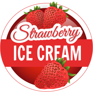Strawberry Ice Cream (120ml) (custom Ratio/Shot)