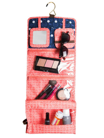 Equestrian Travel Cosmetic - Orange Bits