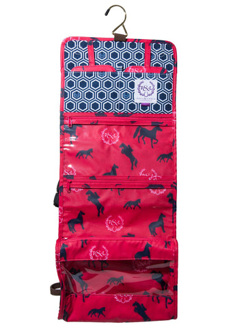 Equestrian Travel Cosmetic - Pink