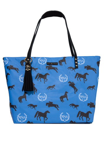 Equestrian Tote Bag - Blue