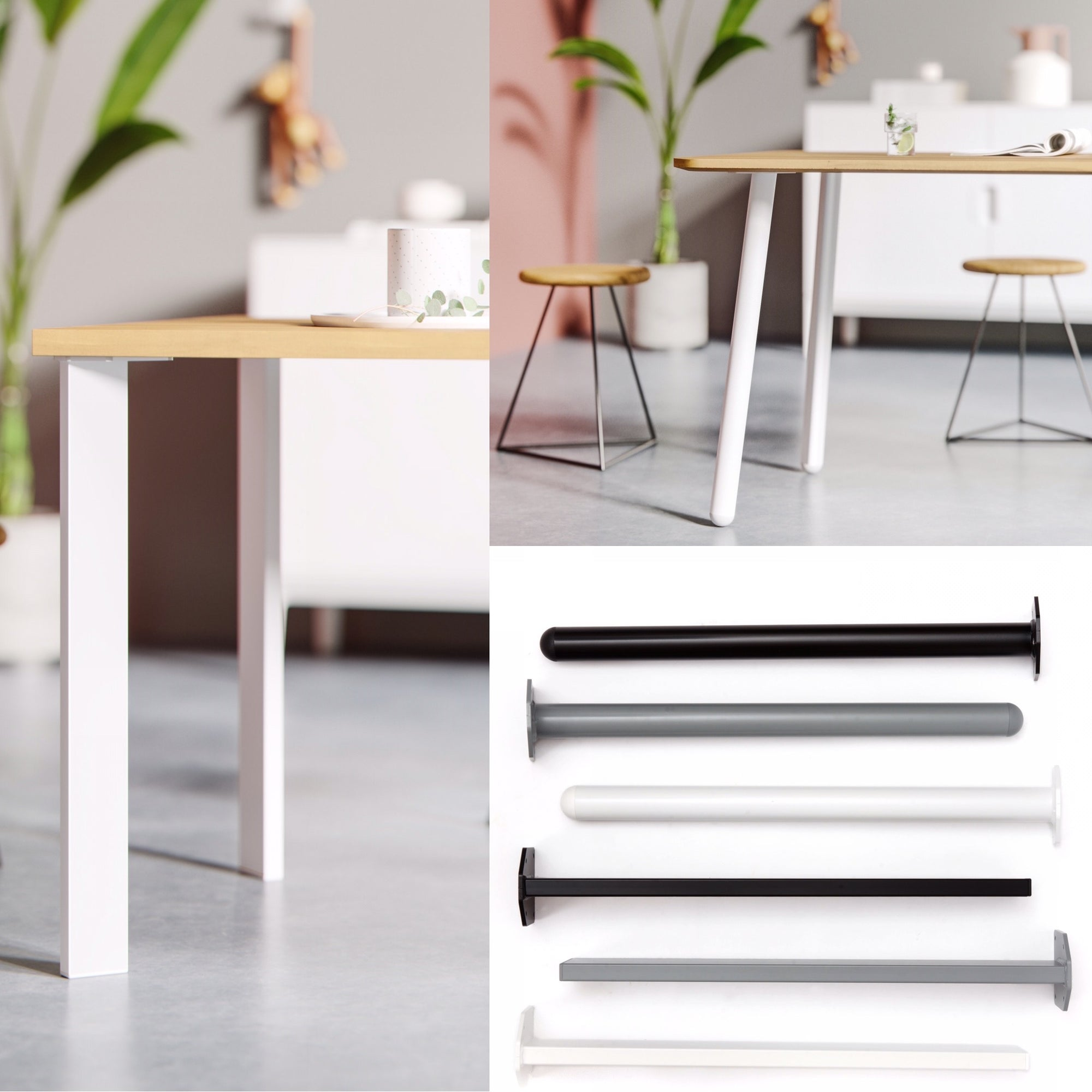 New: Single pin table legs
