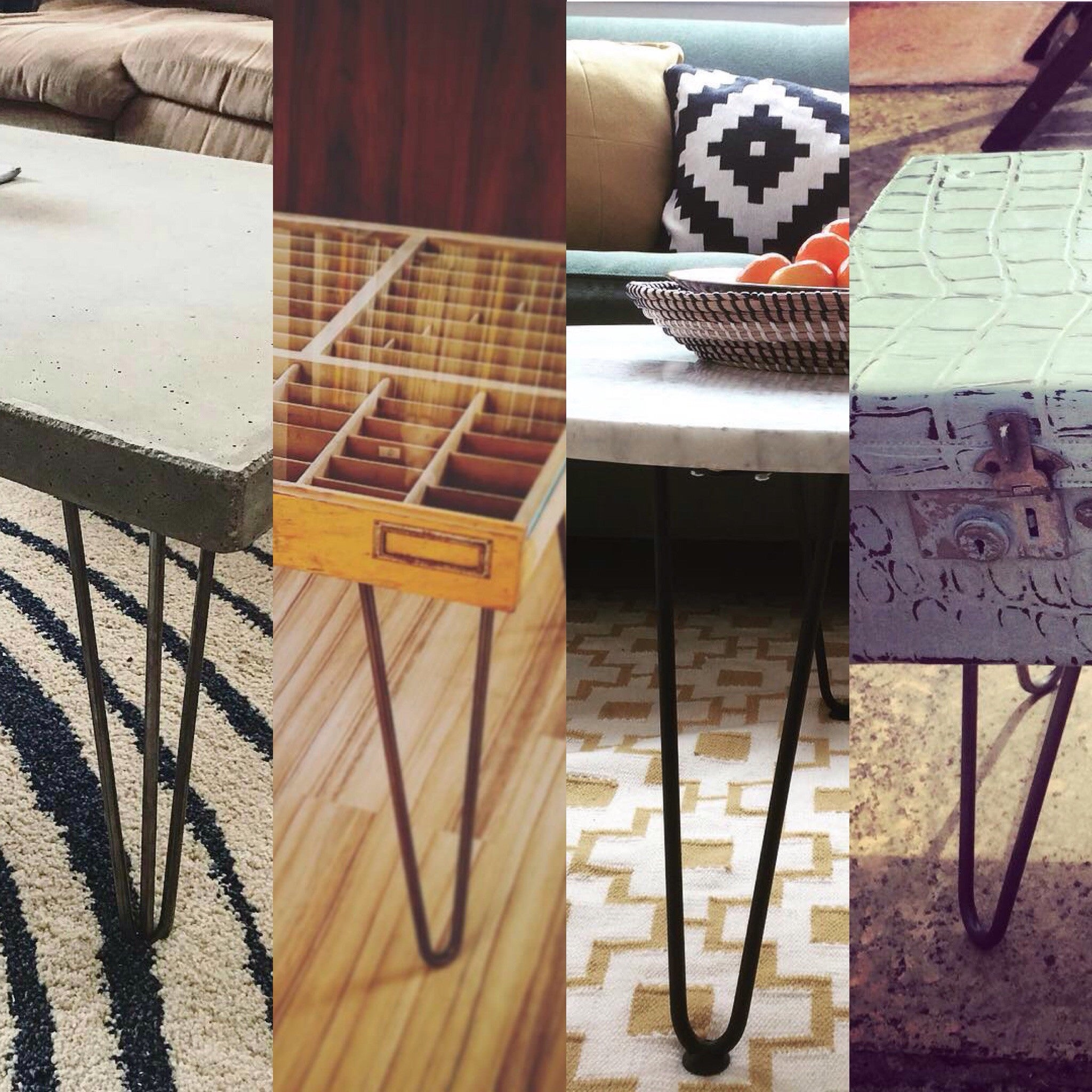 Make a hairpin leg table: What you can use