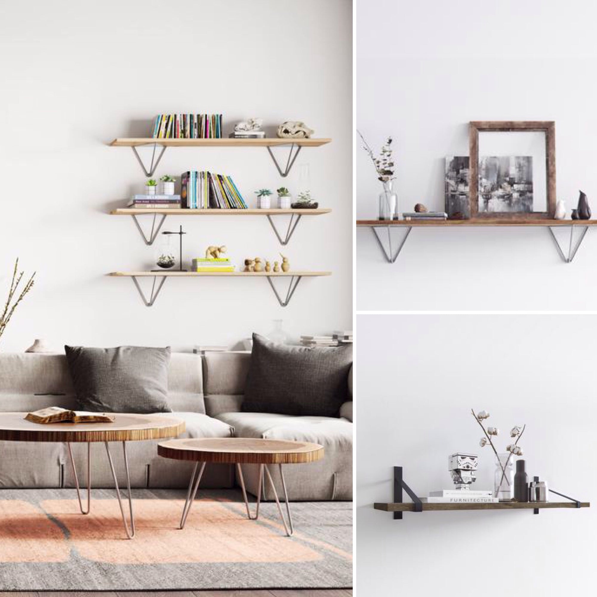 Hold up: Our midcentury shelf brackets are here
