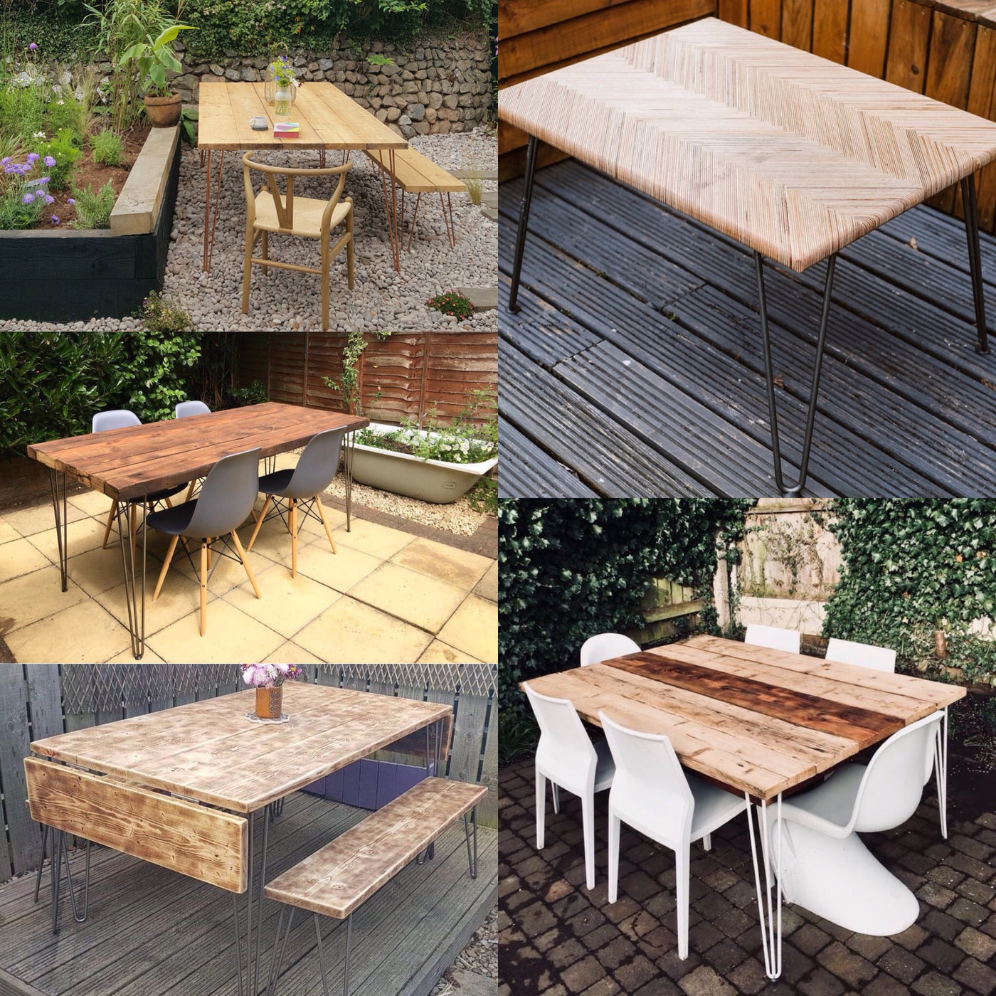 Summer Diy Inspiration 5 Garden Tables With Hairpin Legs