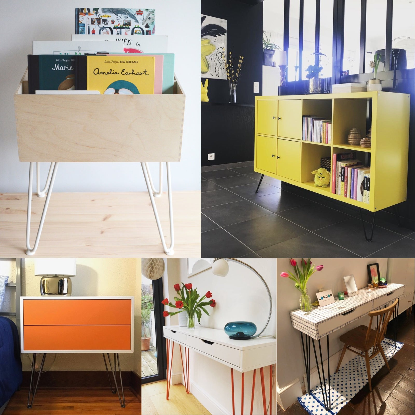 Diy With Hairpin Legs 5 Ikea Hacks To Declutter Your Home