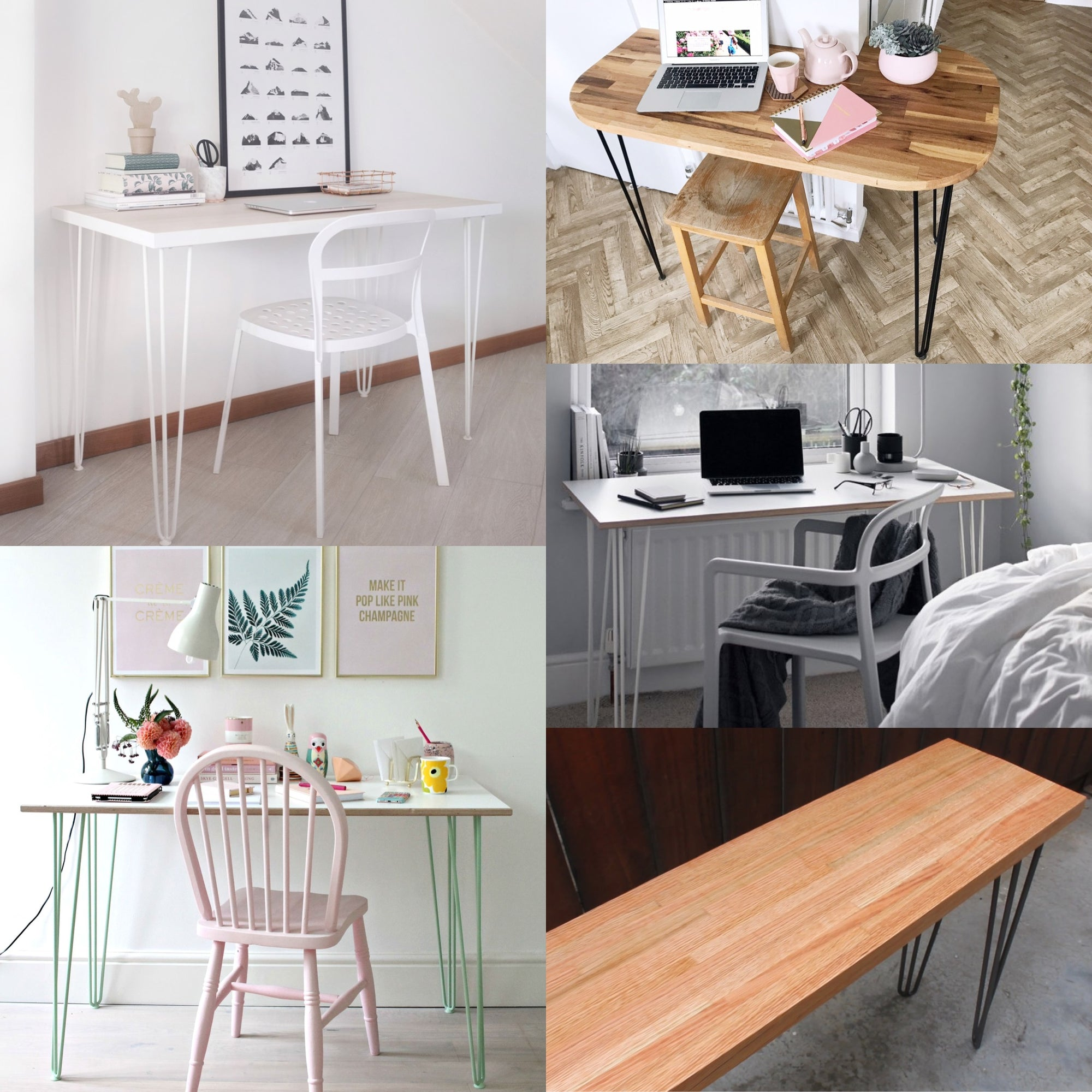 How to: Refresh your workspace with a hairpin leg desk