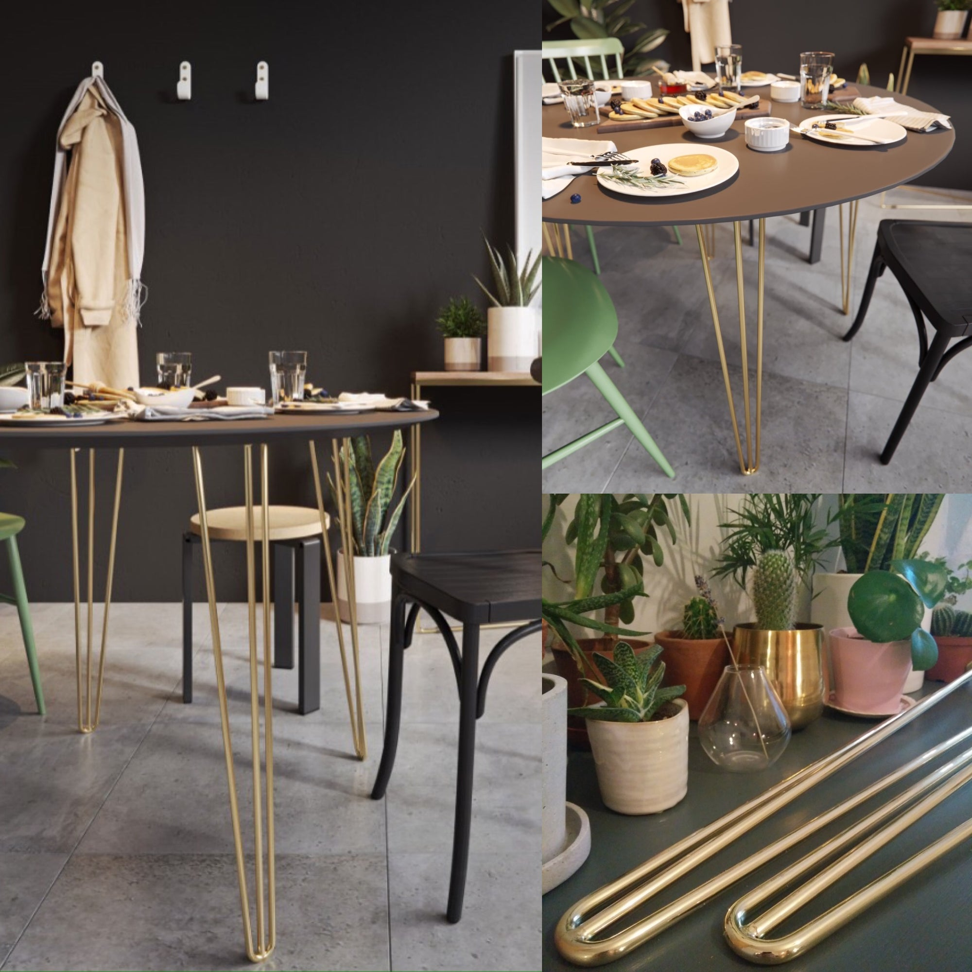 Brazen beauties: New brass hairpin legs