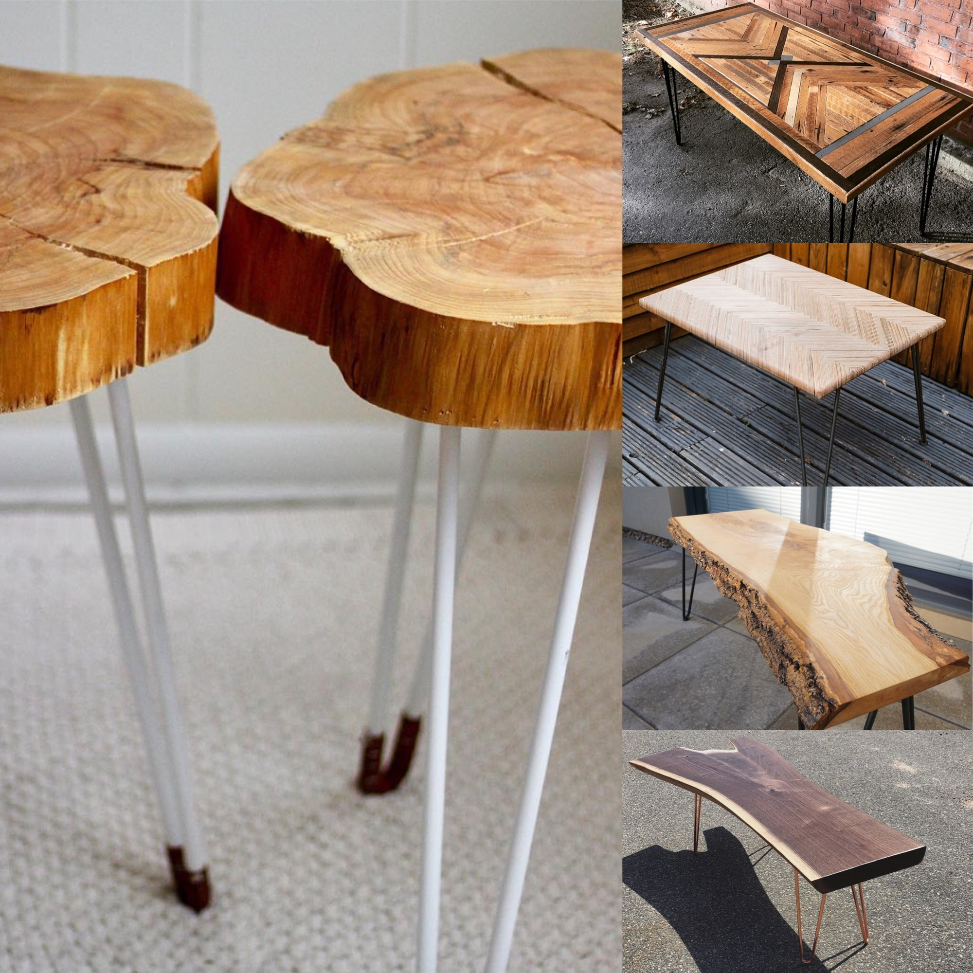 5 inspiring wooden tables with hairpin legs
