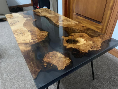 River table with hairpin legs