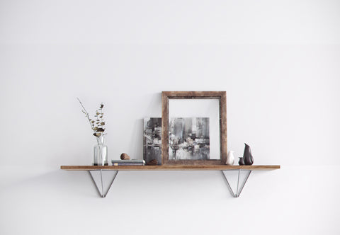Steel shelf brackets