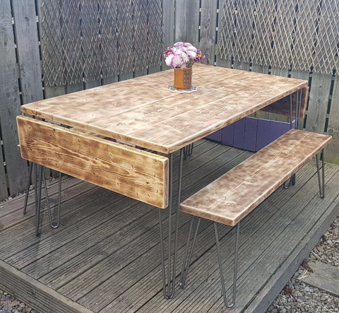 Drop-leaf garden table