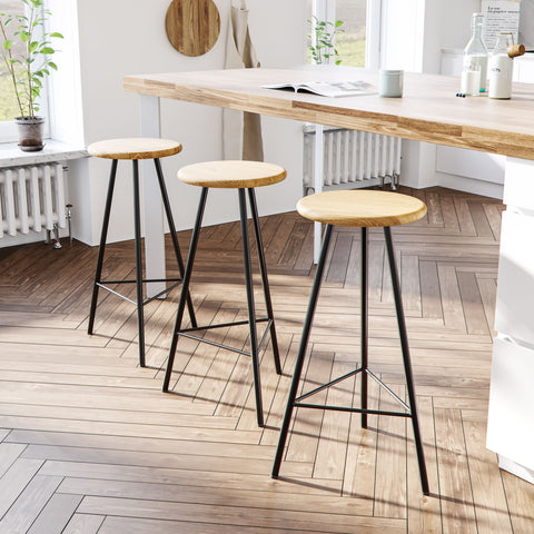 Nord geometric bar stools