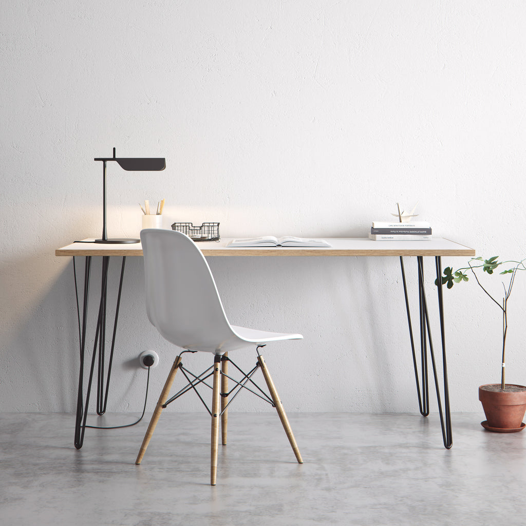 the hairpin leg co desk dining tables. Black Bedroom Furniture Sets. Home Design Ideas