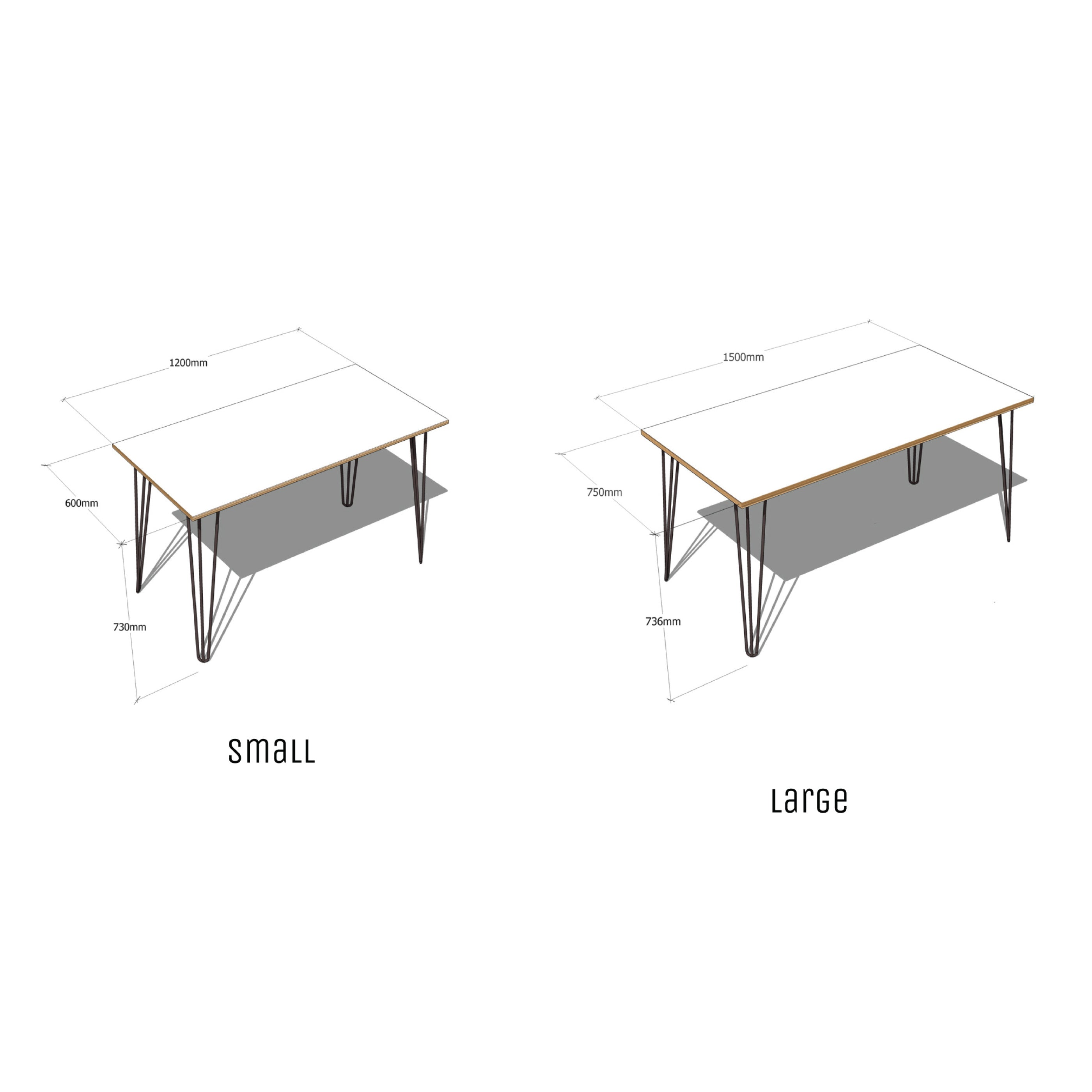 Hairpin Table (Grey)