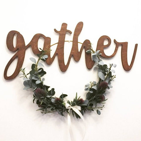 Oversized Gather Sign