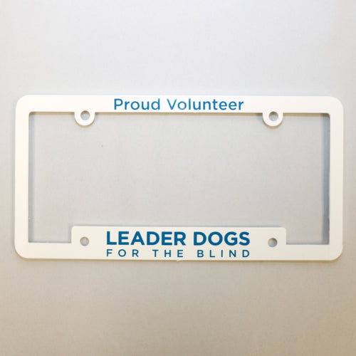 License Plate Frame - Proud Volunteer