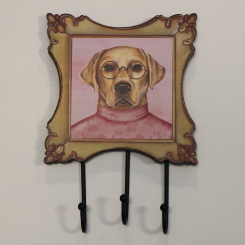 Wall Hook Yellow Lab