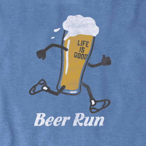 Life is Good Beer Run T-shirt LS