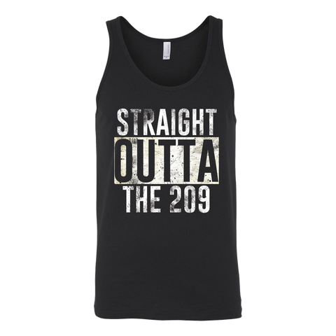 Straight Outta The 209 Unisex Tank Top