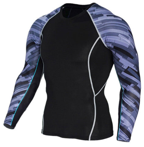 Abstract Compression Top (Long Sleeves)