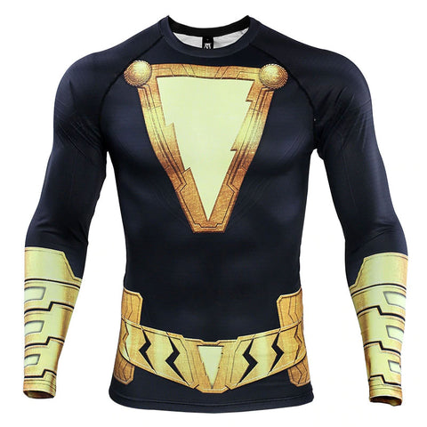 Black Adam Compression Top (Long Sleeves)