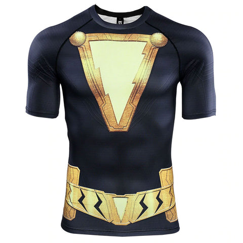 Black Adam Compression Top (Short Sleeves)