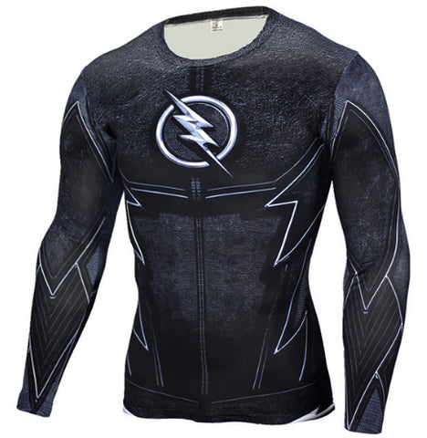 Black Flash Compression Top (Long Sleeves)