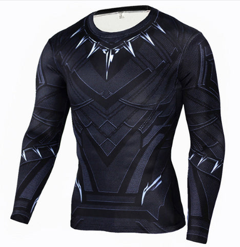 Black Panther Compression Top (Long Sleeves)