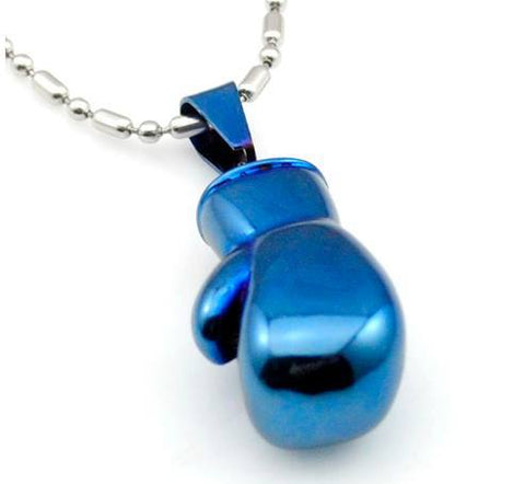 Blue Boxing Glove Pendant