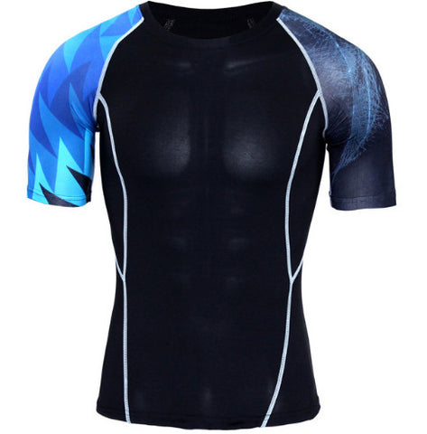 Blue Light Compression Top (Shorts Sleeves)