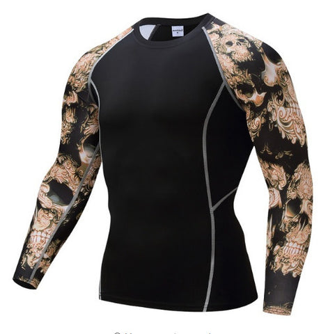 Bronze Skull Compression Top (Long Sleeves)
