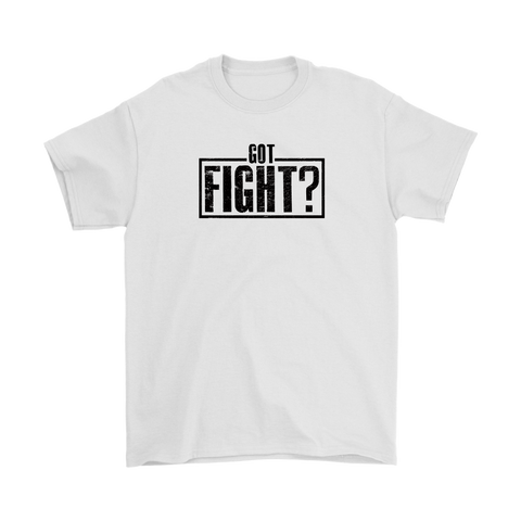 Got Fight? Stamp Tee White