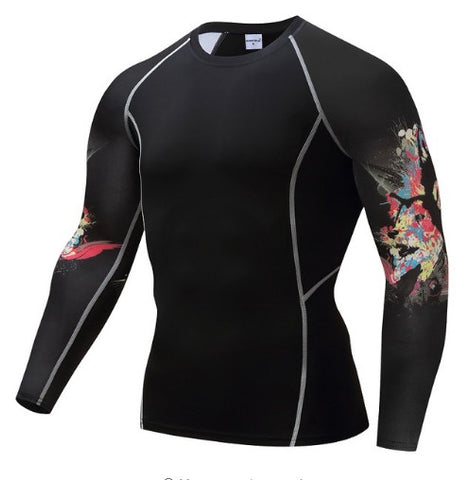 C-Wolf Skull Compression Top (Long Sleeves)