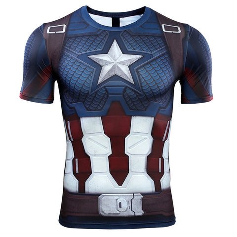 Captain America Compression Top (Short Sleeves)