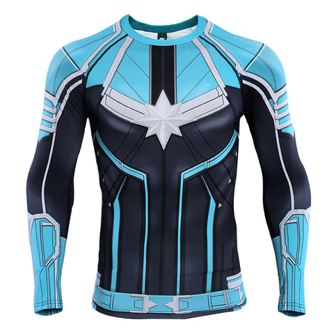 Captain Marvel Starforce Compression Top (Long Sleeves)