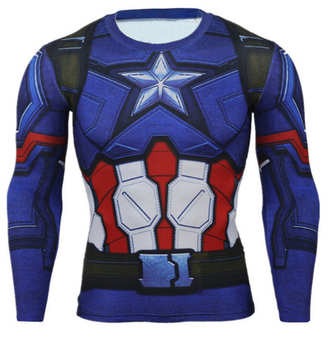 Captain America Compression Top (Long Sleeves)