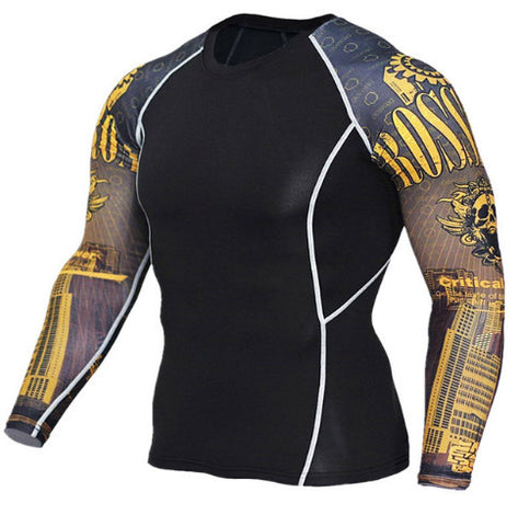 Crossroad Skulls Compression Top (Long Sleeves)