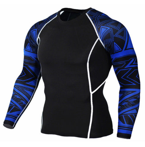 Cubix Blue Compression Top (Long Sleeves)