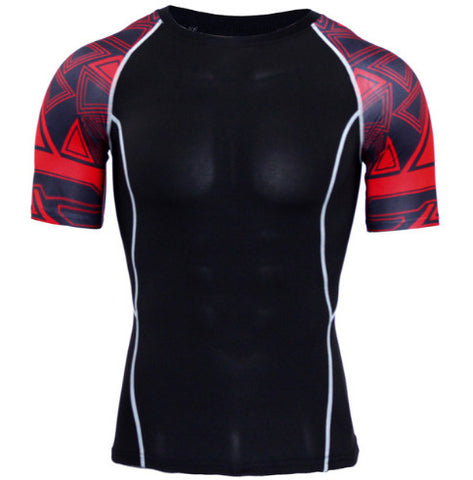 Cubix Red Compression Top (Shorts Sleeves)