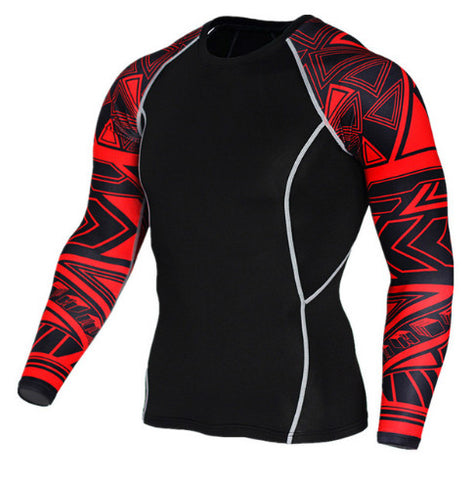 Cubix Red Compression Top (Long Sleeves)